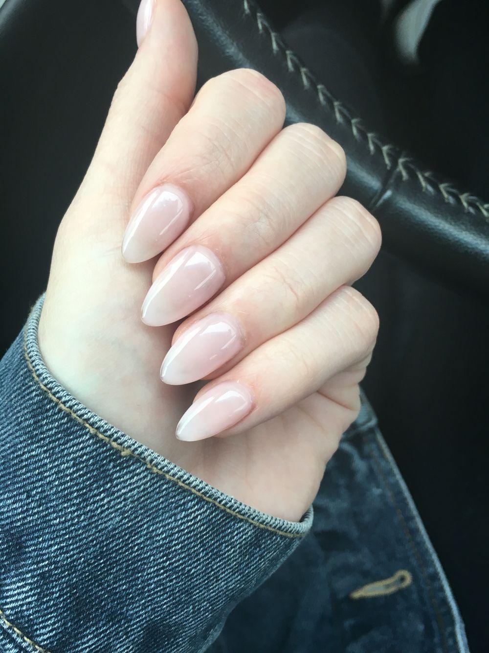 Natural Clear Acrylic Nails Almond Short Natural Acrylic Nails Almond Acrylic Nails