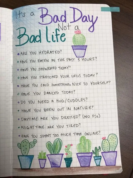 20 Easy Motivational Self Care Bullet Journal Idea