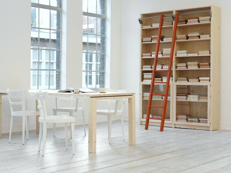 Lundia Original boekenkast regular met boekenkasttrap oranje by ...