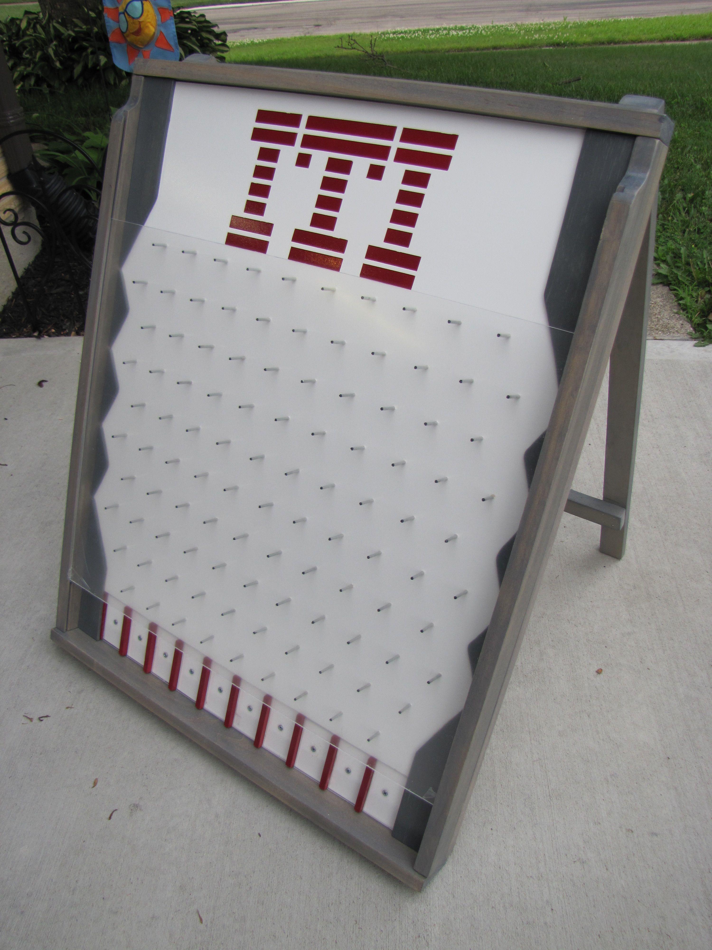 Custom designed plinko chip board game 14 plywood 1