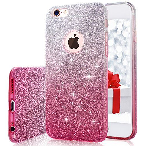 iPhone 6s plus/6 Plus Case, MILPROX Bling Glitter Pretty sparkle 3 ...