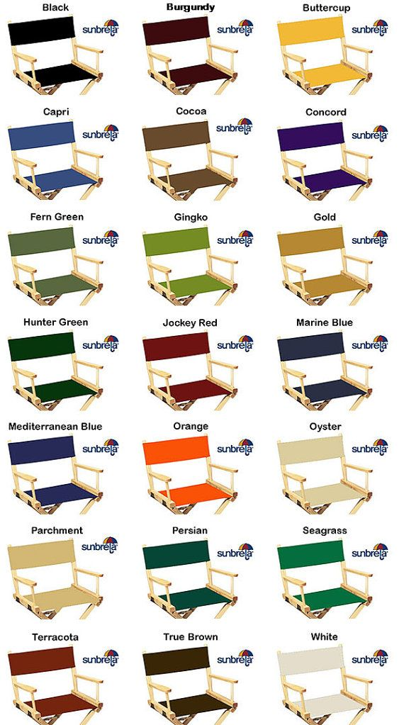 Sunbrellar Directors Chair Replacement Covers Round Stick Etsy Directors Chair Outdoor Fabric Sunbrella
