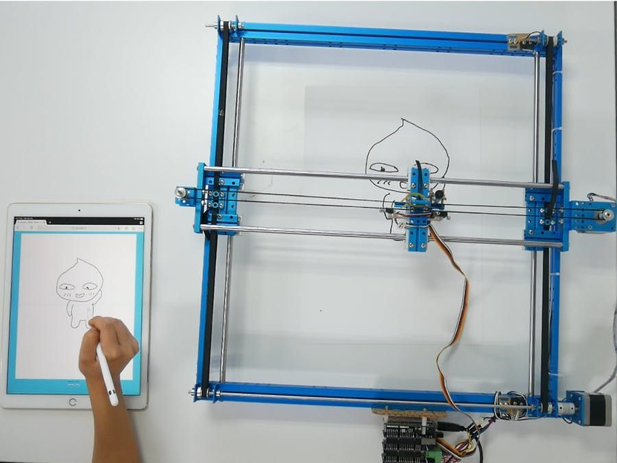 Arduino - Drawing via Web Using Step Motor Controller | Art in Tech