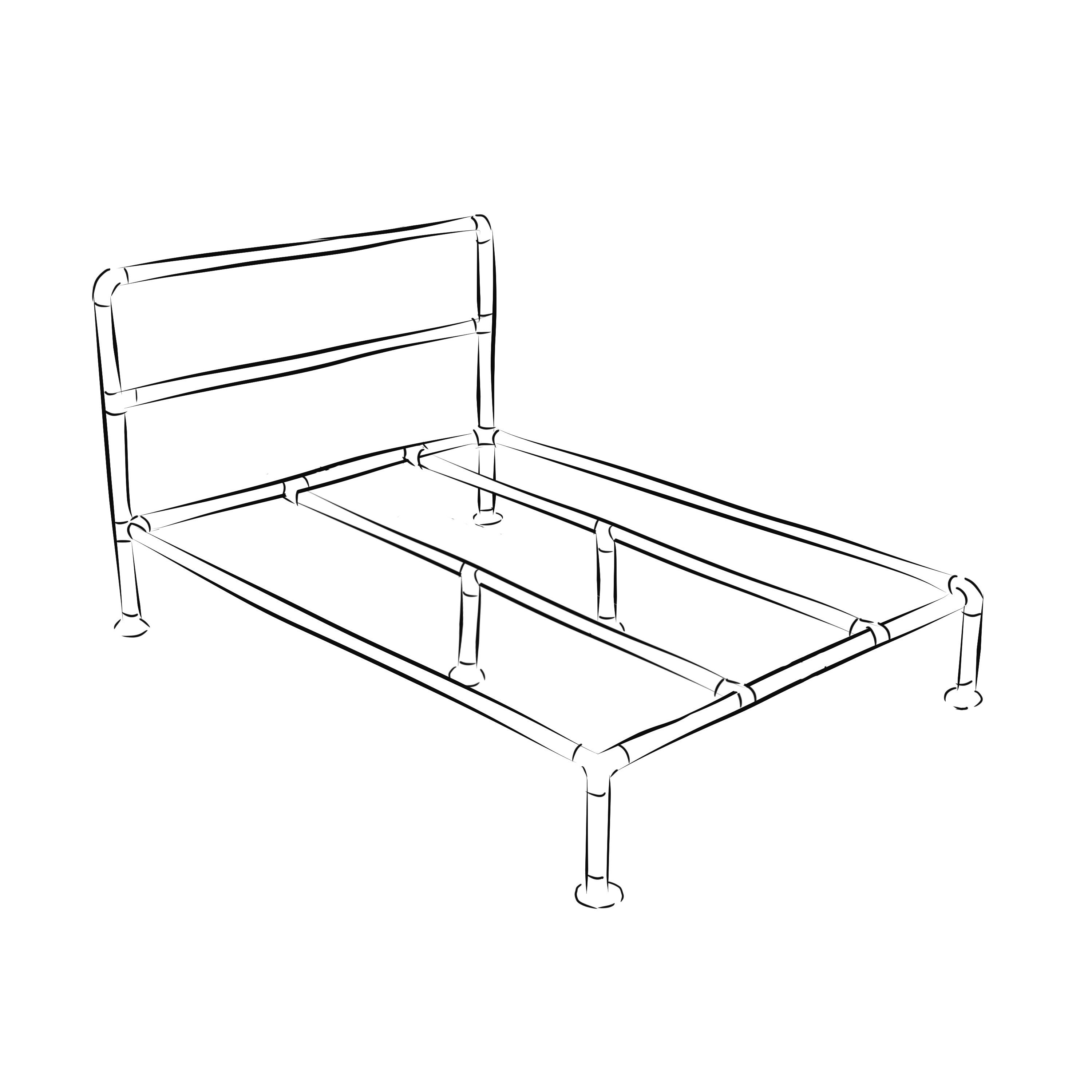 Barbican Industrial Bed Frame Kit King Size Industrial Bed