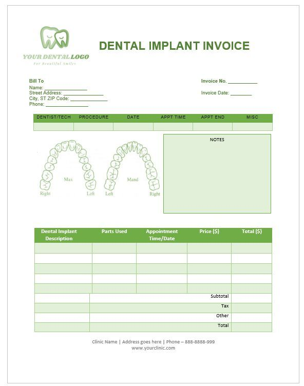 Blank Dental Invoice Template Excel Picturesque Www Picturesboss Com