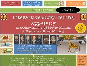 Interactive Story Telling iPad App-tivity{Movie Making & Narrative