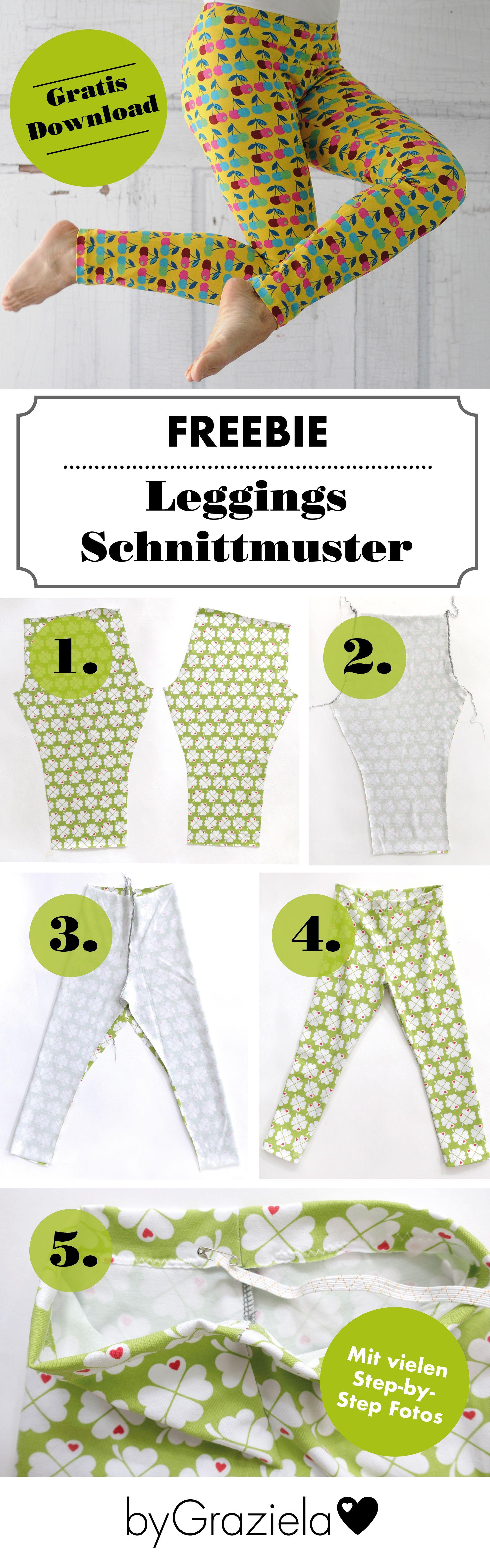 ♥ FREEBIE ♥ – Gratis Leggings Schnittmuster für Damen | Pinterest ...