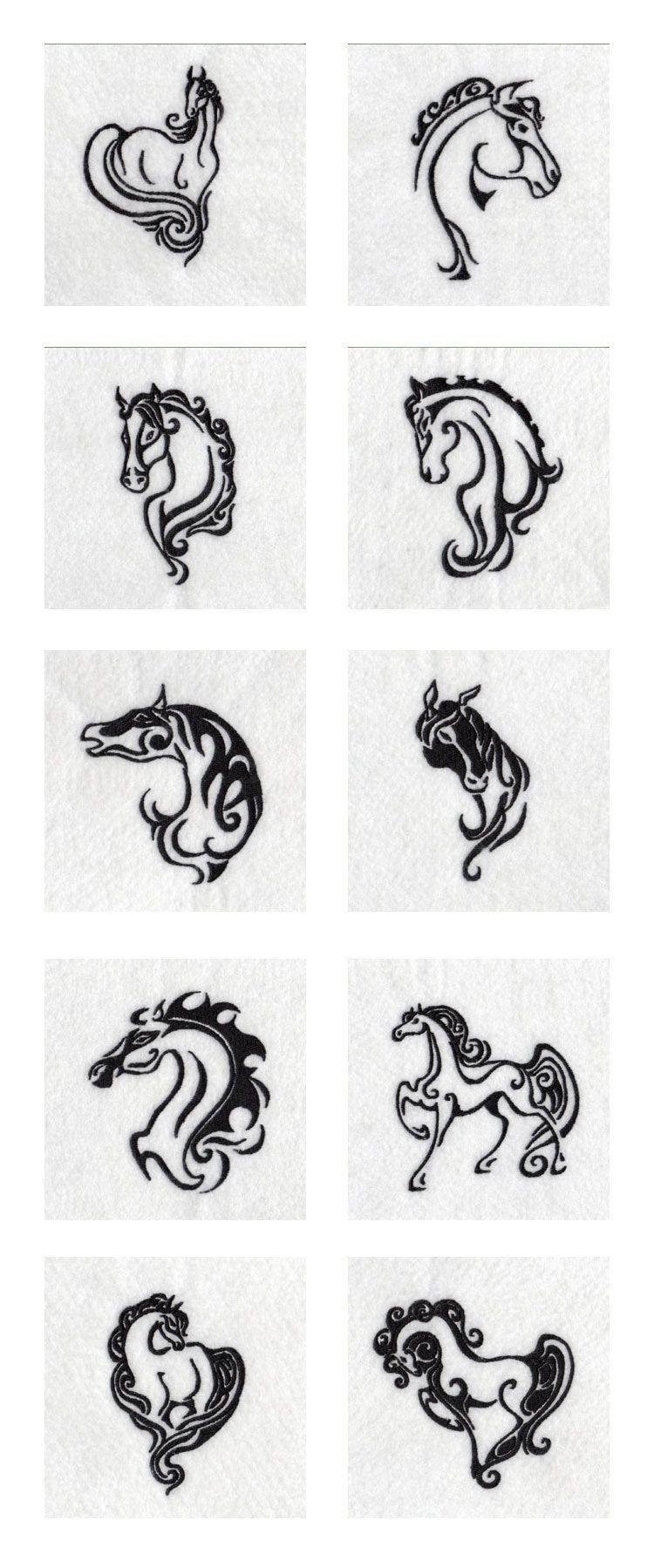 Elegant Wild Horses Embroidery Machine Design Details Horse Small Horse Tattoo Horse Tattoo Tattoos