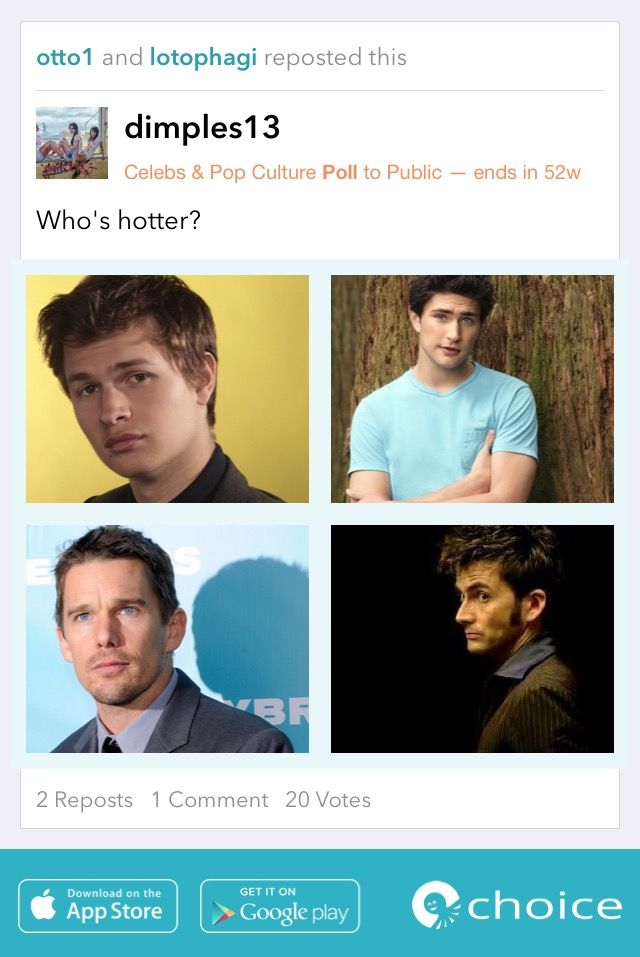 Who's #hotter? #choice #sexymen #sexy #guys https://choiceapp.co/dimples13/post/10401