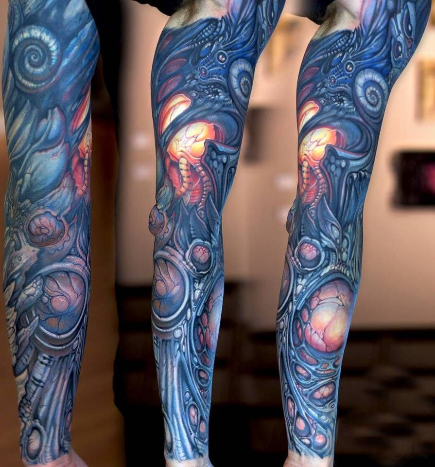 Images Of Biomechanical Tattoos: Biomechanical Tattoo On Sleeve