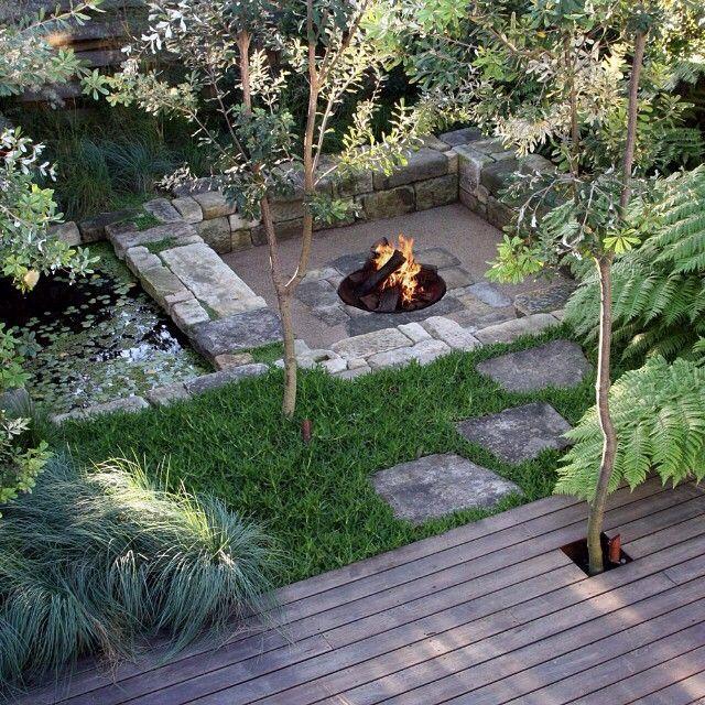 Georgina Reid On Instagram Hugh Main Is A Sydney Based Landscape Designer His Company Spirit Level Garden Fire Pit Native Garden Australian Native Garden