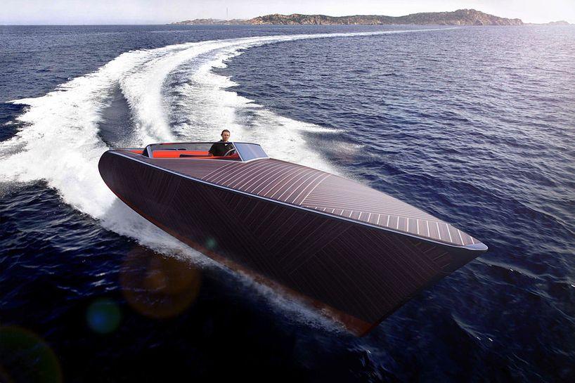 Электрическая деревянная лодка The Zebra для тихих морских прогулок