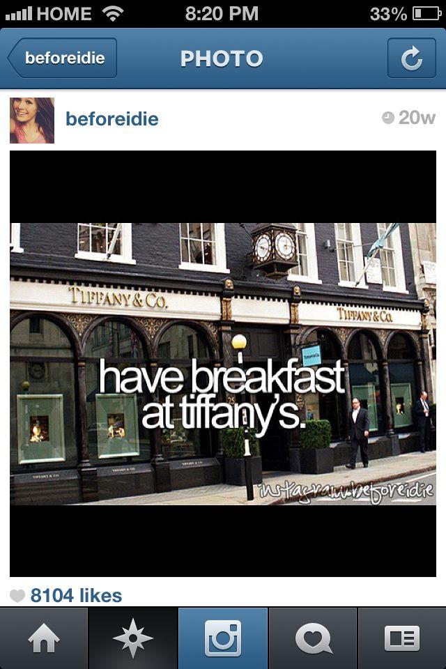 Breakfast at Tiffany yes please!!