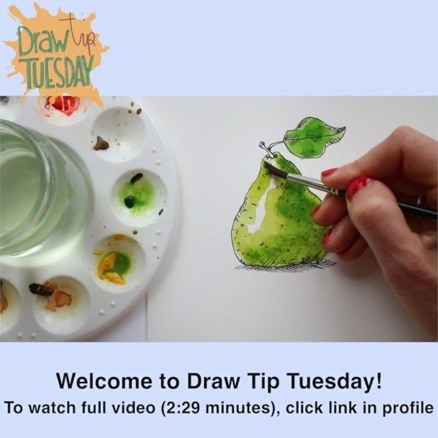 Welcome to Draw Tip Tuesday! Wanna see the full explanation of this watercolour trick? Click link in profile!