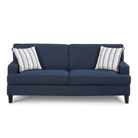 Coaster Fine Furniture Finley Blue Linen Stationary Sofa