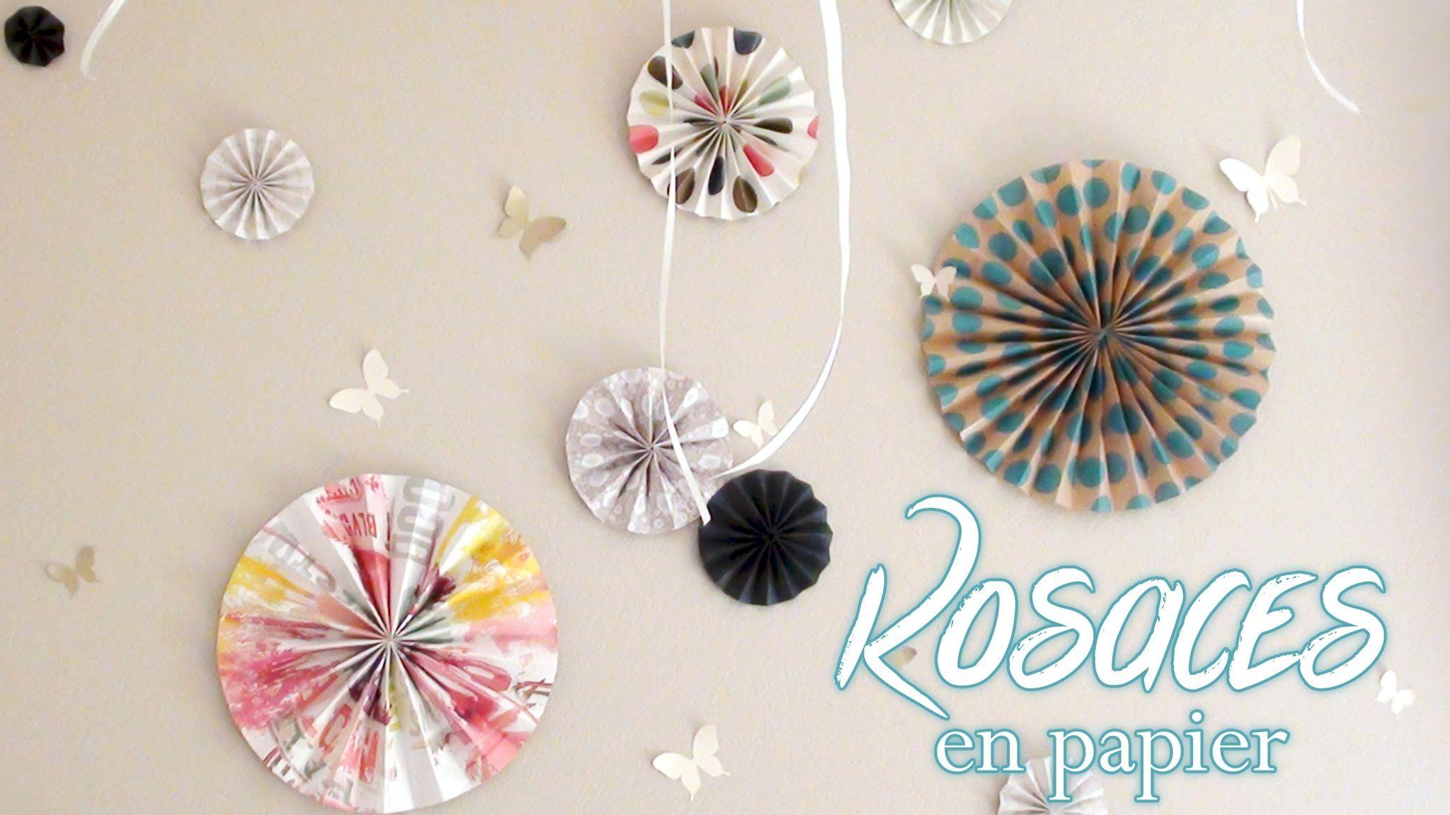 diy deco fabriquer des rosaces en papier top explication avec du papier peint fleur. Black Bedroom Furniture Sets. Home Design Ideas