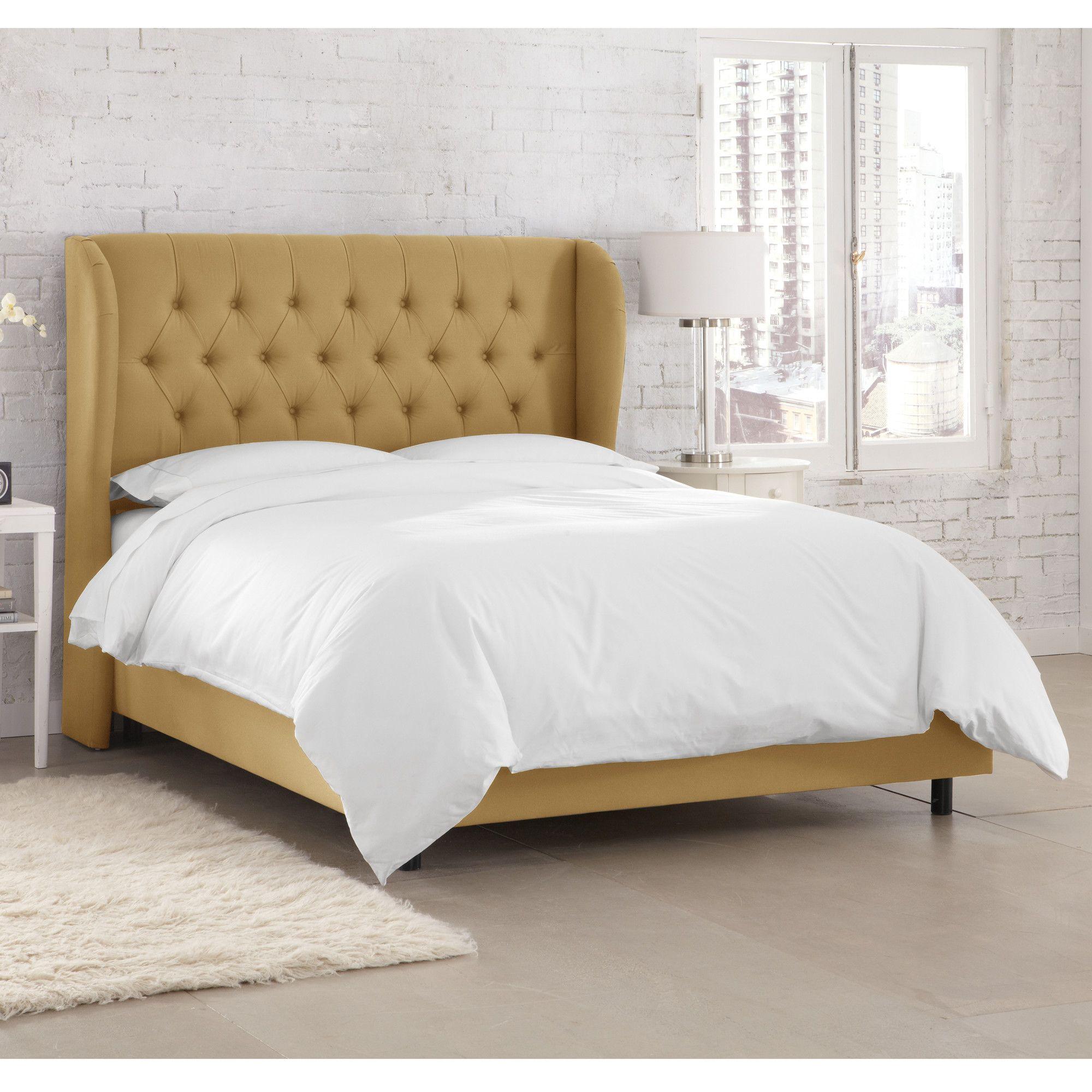 Kingsville Upholstered Standard Bed Art Velvet