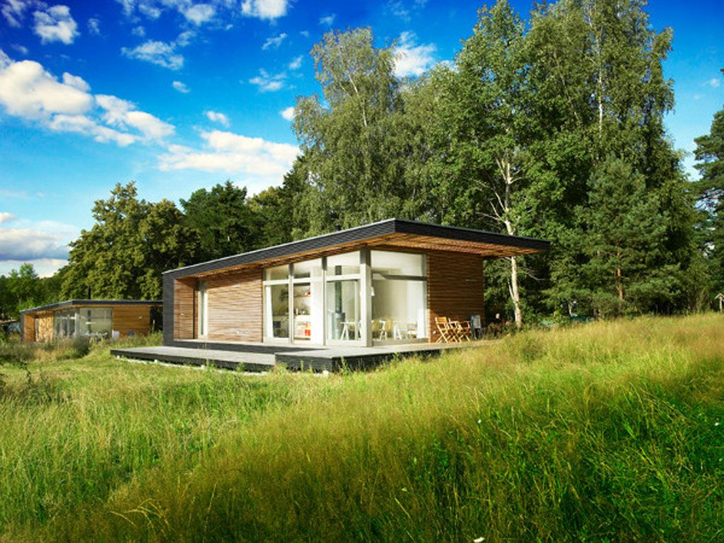 New small modern house designs canada with modern for Modular cabins and cottages