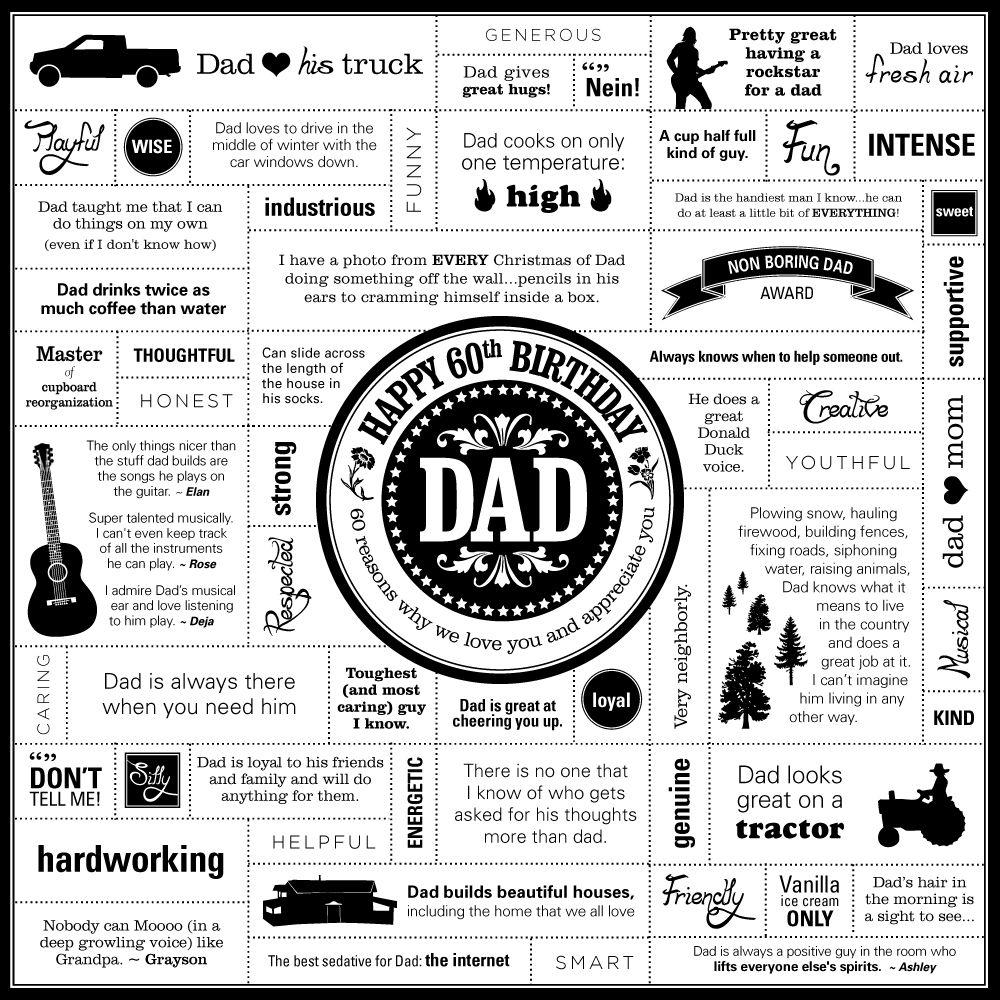 Deja Engel Design Happy 60th Birthday Dad www