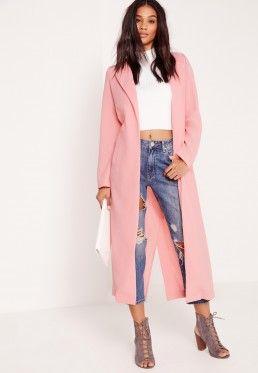 701c6514ff1b9 Pink Tropical Print Co Ord Kimono Jacket | 4Ever AKA | Pink denim ...
