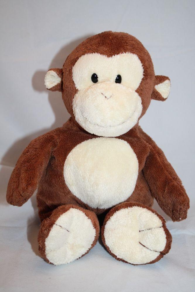 9769de32fa0 Ty Pluffies Monkey Dangles brown cream plush 2009 Stuffed ape toy 10