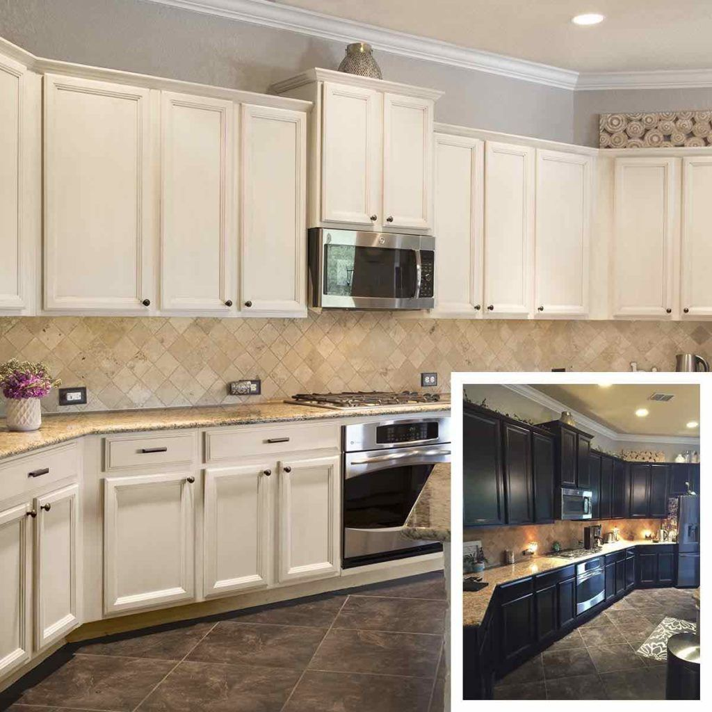 Formerly Dark Cabinets Updated In A Soft White Lacquer With Glaze Finish In Sherwin Williams Painting Cabinets Update Cabinets Cabinet