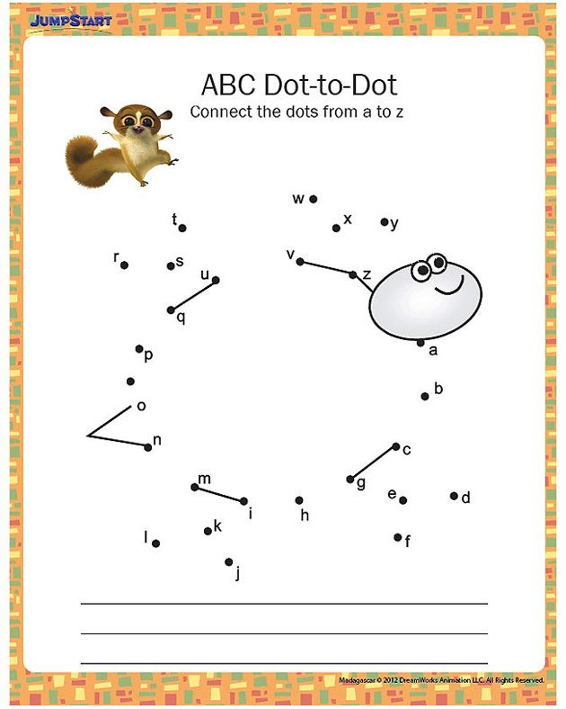 Kindergarten Worksheets Dot To Dot