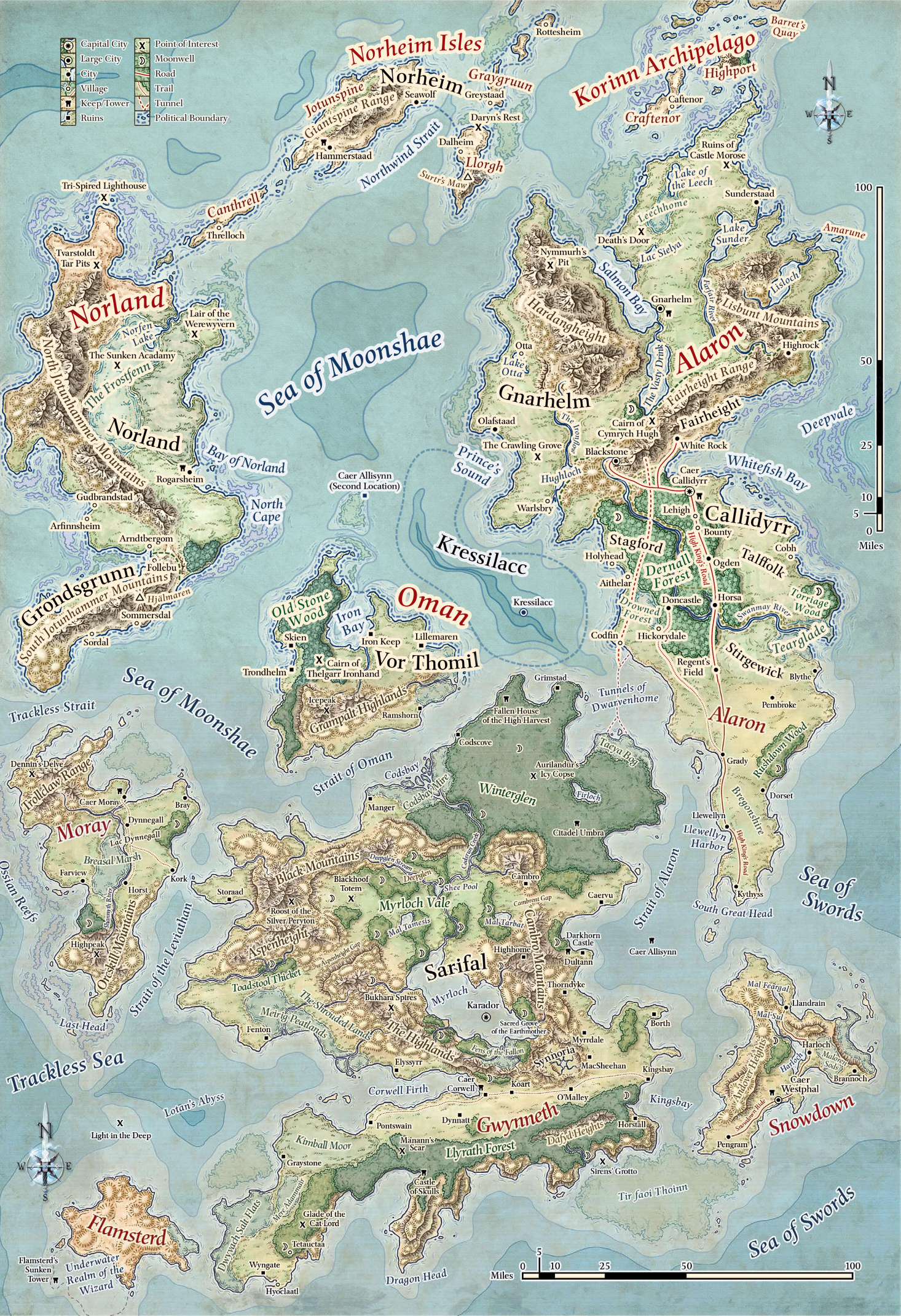 Moonshae Isles Forgotten Realms Dungeons and Dragons Faerun