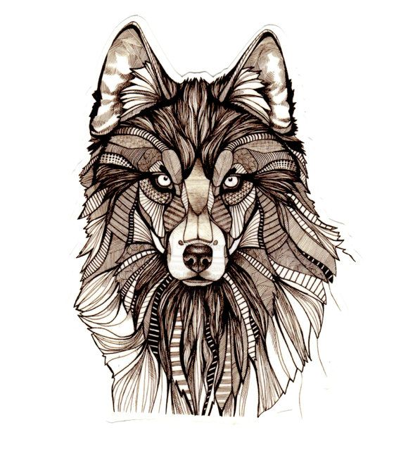 Connu Large Wolf Temporary Tattoo | Tatouages bizarres, Objectifs et  TH21