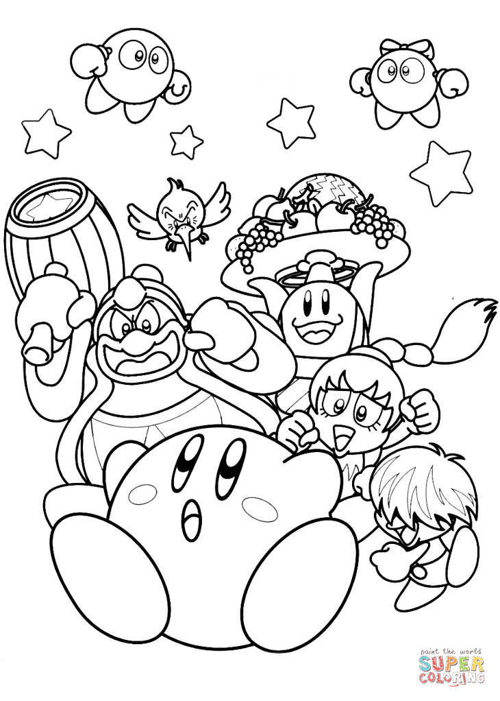 Nintendo Kirby Super Coloring Monster Coloring Pages Mario Coloring Pages Super Mario Coloring Pages