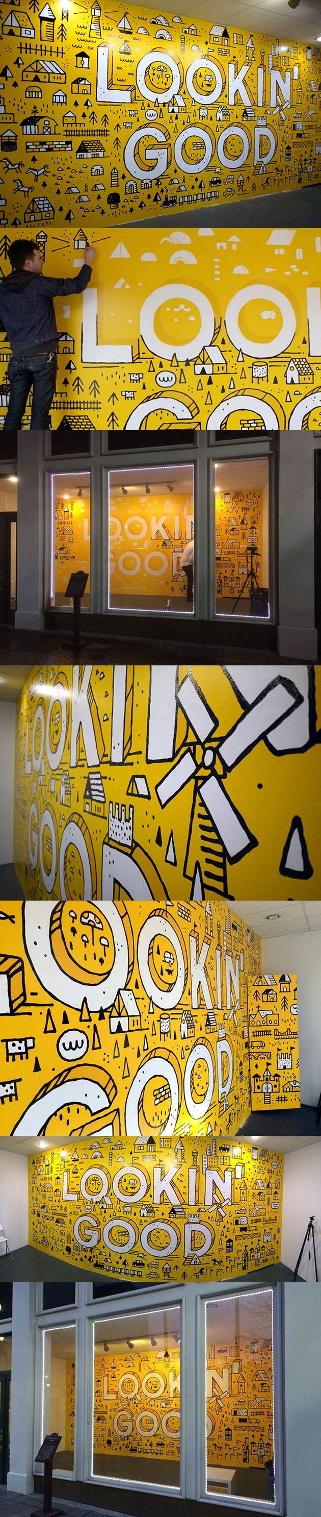 Big Cartel Mural / Dan Cassaro by &Reach Management   Office Style ...