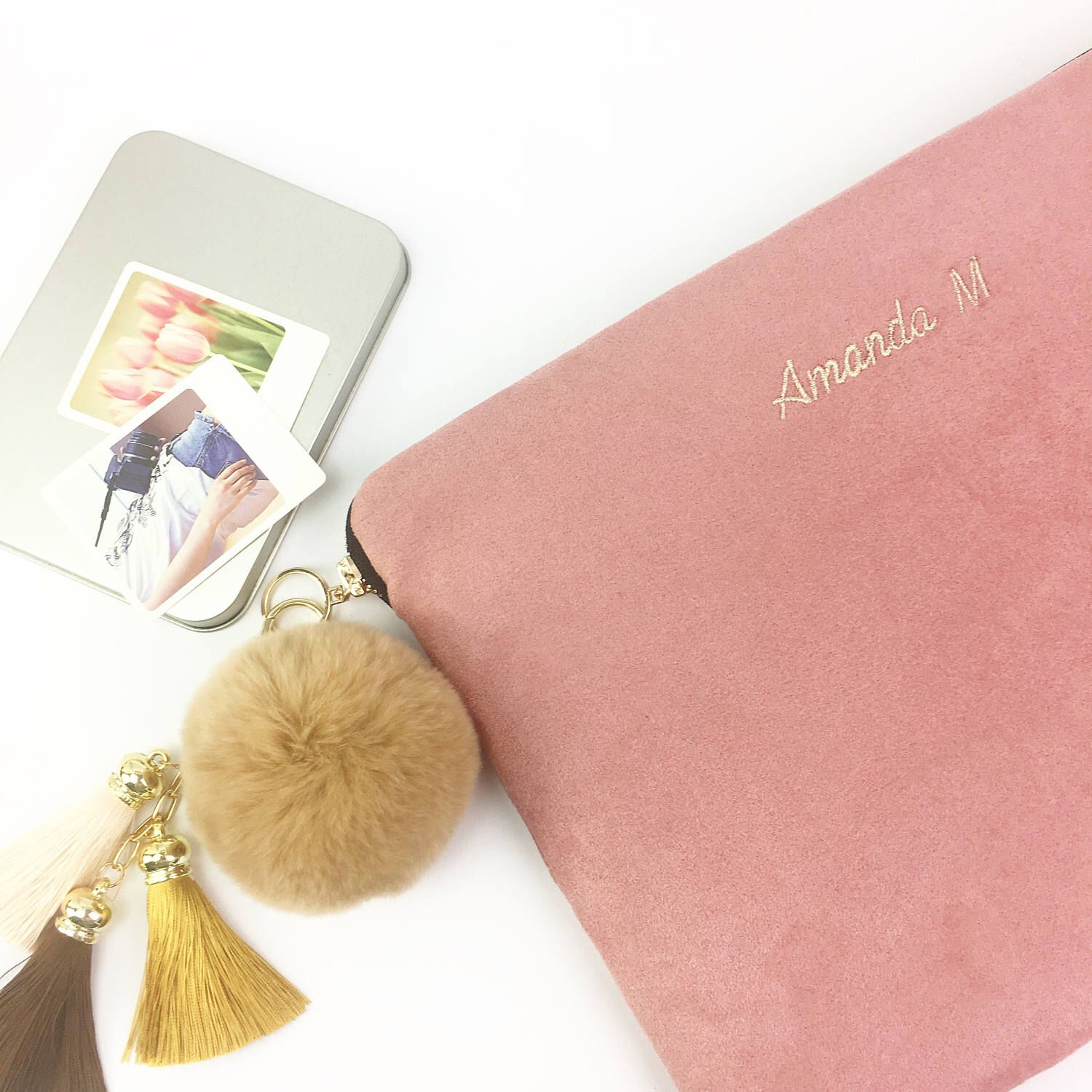 """Personalised Faux Suede 11"""" 12"""" 13"""" 14"""" 15"""" 16"""" Laptop"""