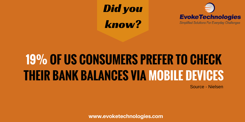 19 of US Consumers prefer to check their Bank Balances