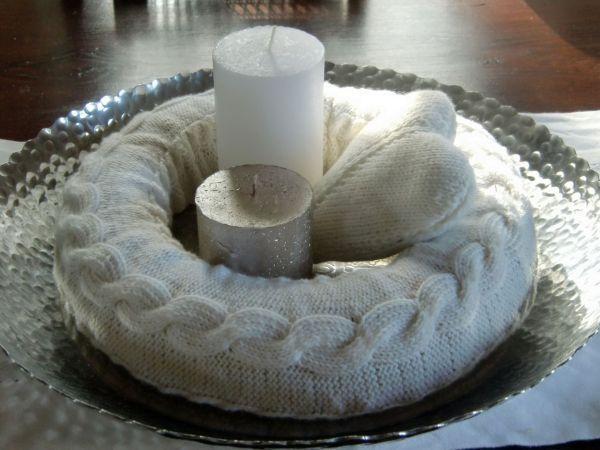 kranz advent gestrickt stricken pinterest kr nze. Black Bedroom Furniture Sets. Home Design Ideas