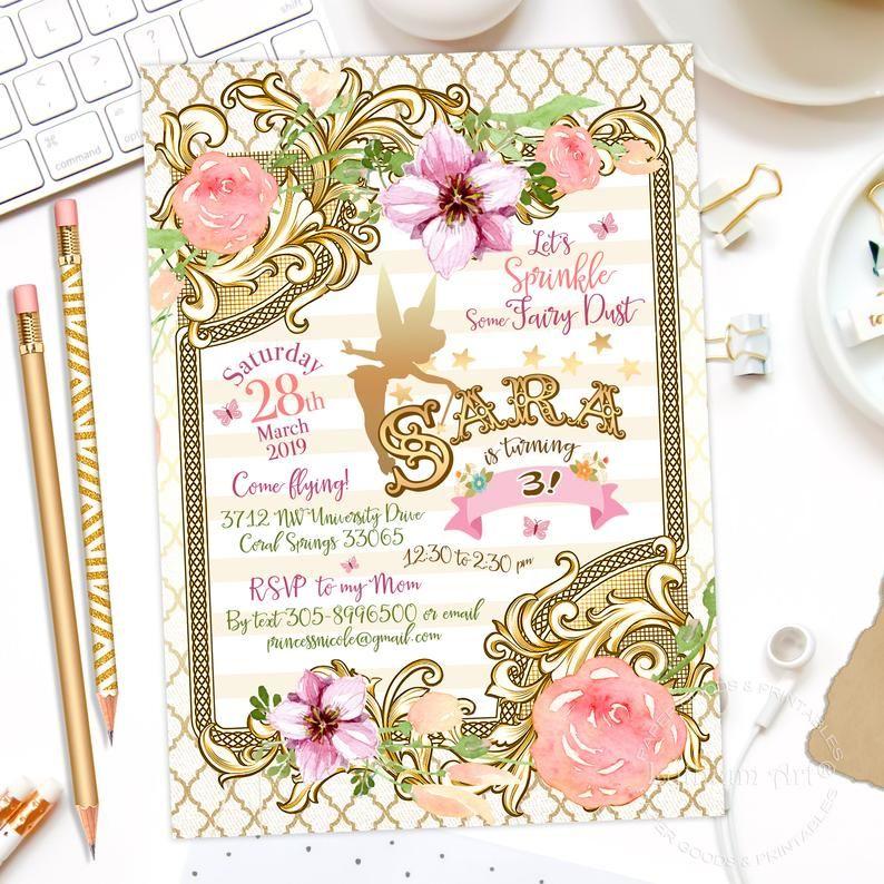 Fairy Invitation Fairy Birthday Invitation Printable