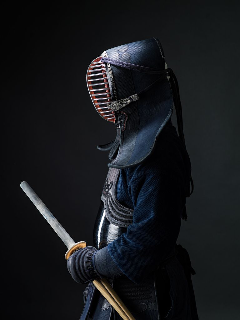 The deep blues of a kendo uniform are certainly striking, aren't they?