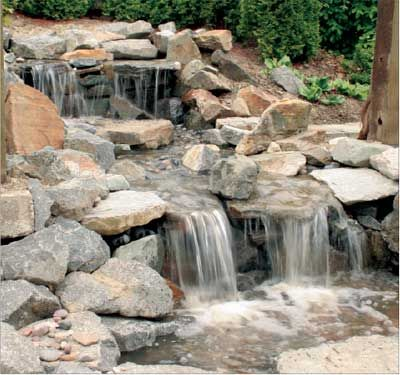 How To Build A Natural Looking Waterfall With A Filtrific Vanishing Water System Waterfalls Backyard Pondless Water Features Waterfall Landscaping