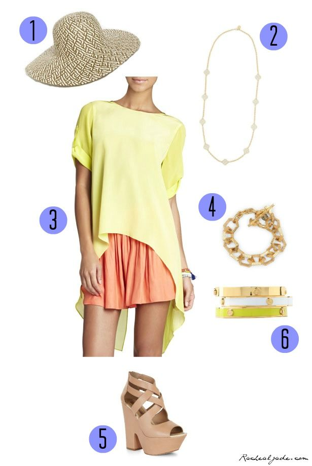 Bright and beautiful! Love the colors of this summer outfit!
