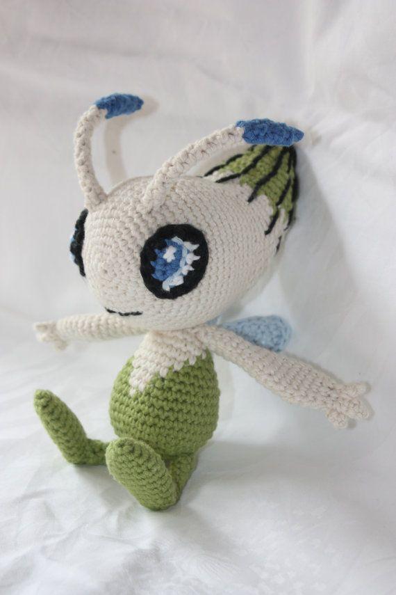 Celebi Crochet Pokemon by crochetmeow on Etsy, €54.99 | crochet ...