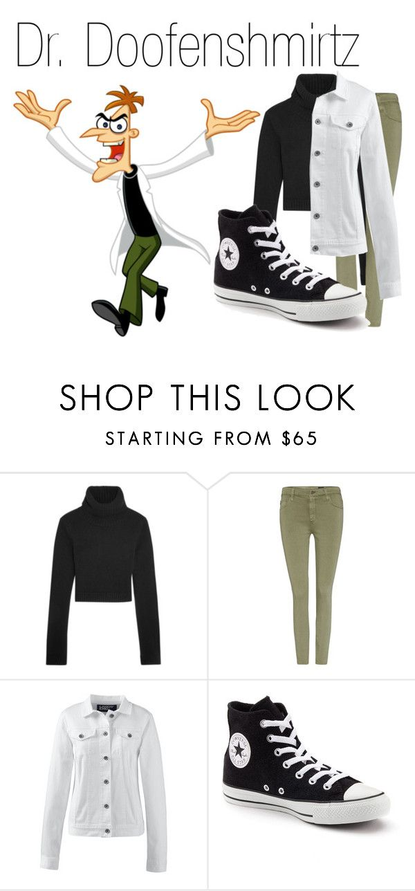 """""""Dr. Doofenshmirtz~ DisneyBound"""" by basic-disney ❤ liked on Polyvore featuring Michael Kors, AG Adriano Goldschmied, Lands' End and Converse"""