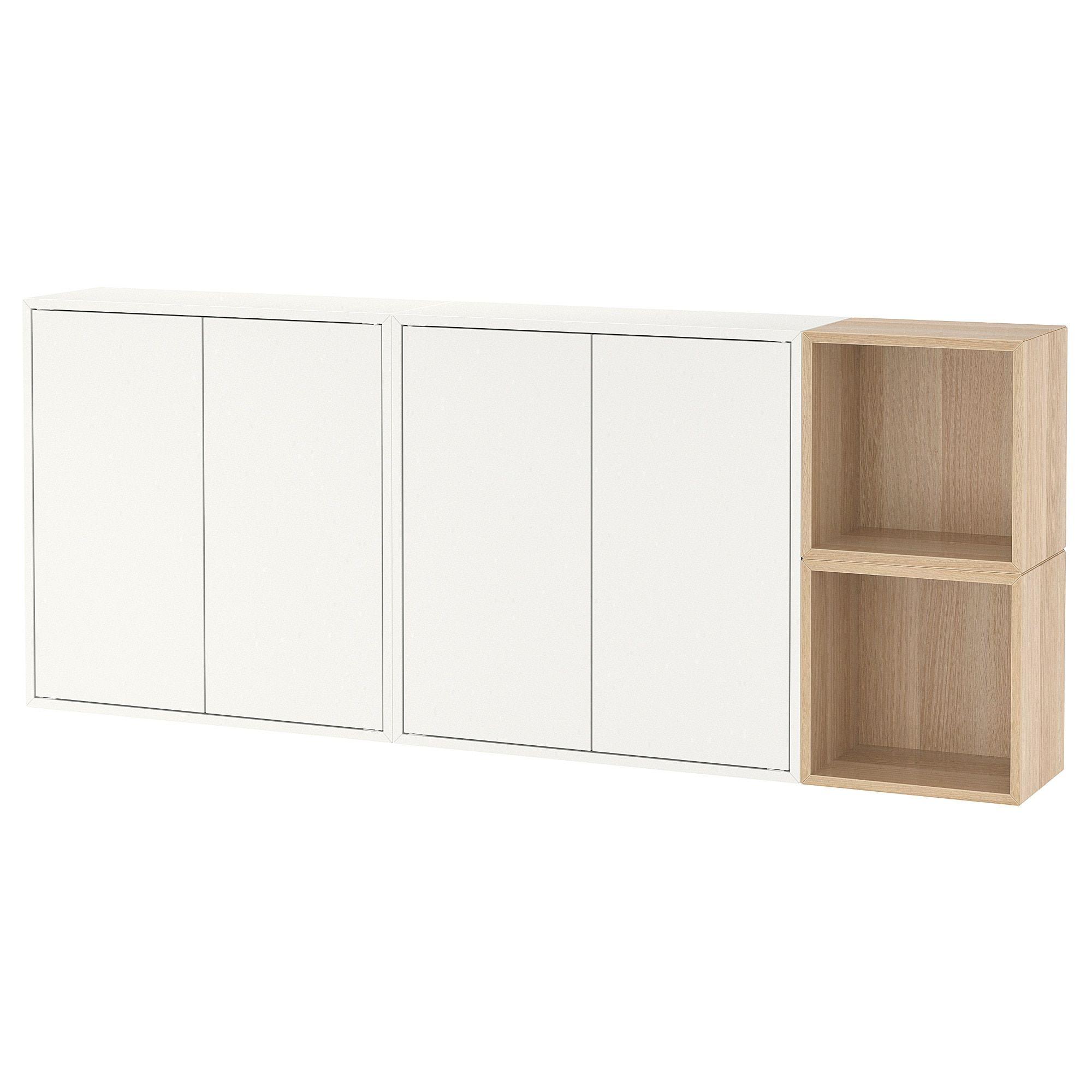 Ikea Eket Agencement Rangement Mural Blanc Effet Chêne