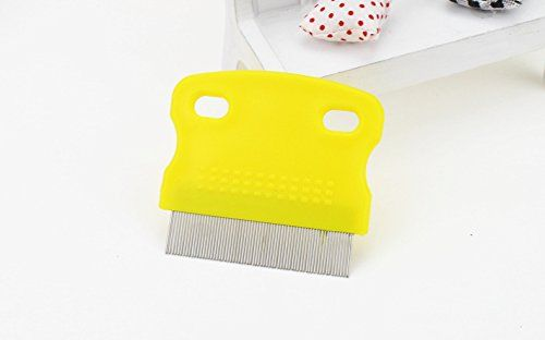 random color HuntGold Pet Cat Dog Toothed Flea Ovum Remover Grooming Cleaning Comb Steel Hair Brush