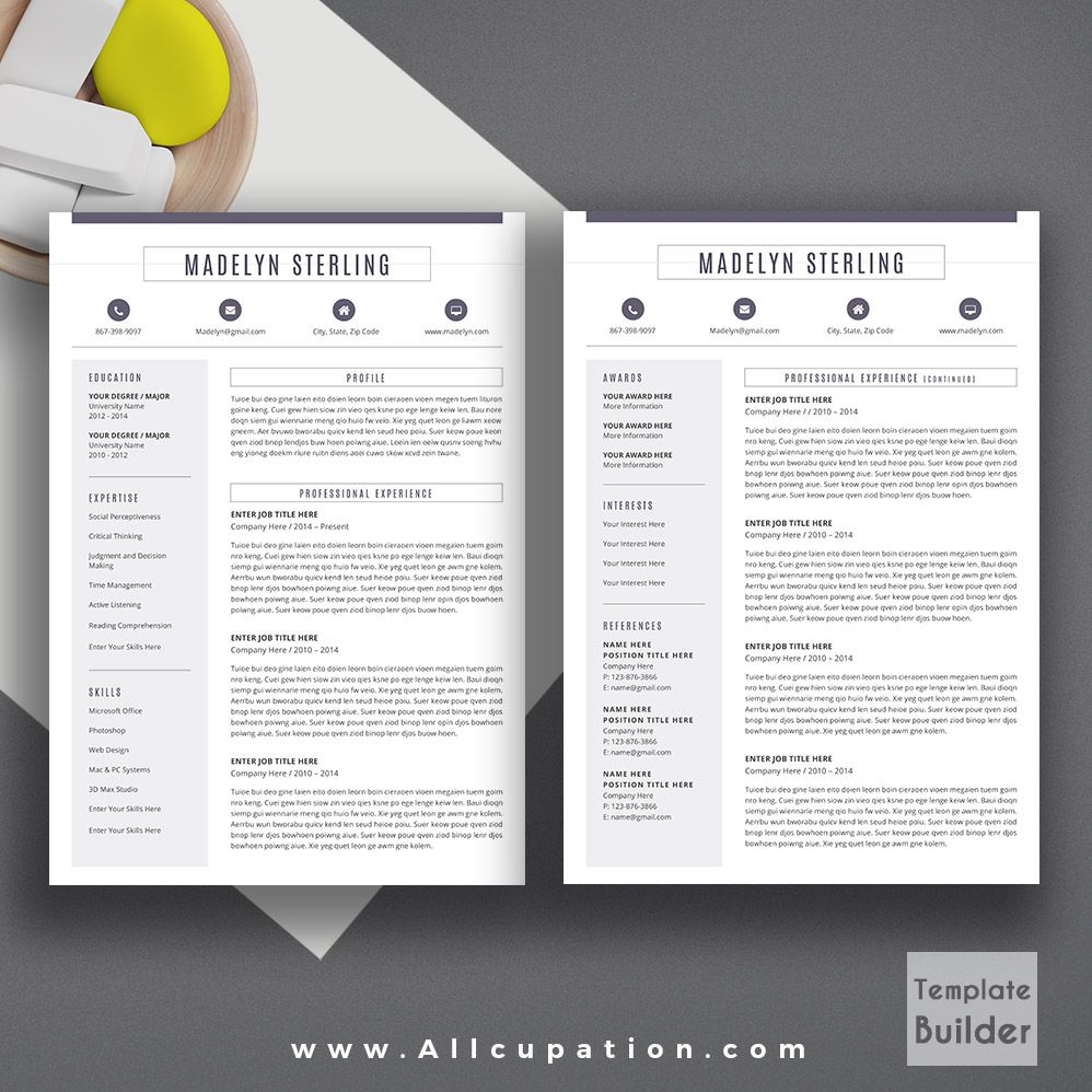 Creative resume template cover letter word modern simple teacher creative resume template cover letter word modern simple teacher resume instant download mac or pc madelyn spiritdancerdesigns Gallery