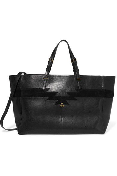 cad0623df6 Jérôme Dreyfuss - Maurice Suede-trimmed Leather Tote - Black - one size