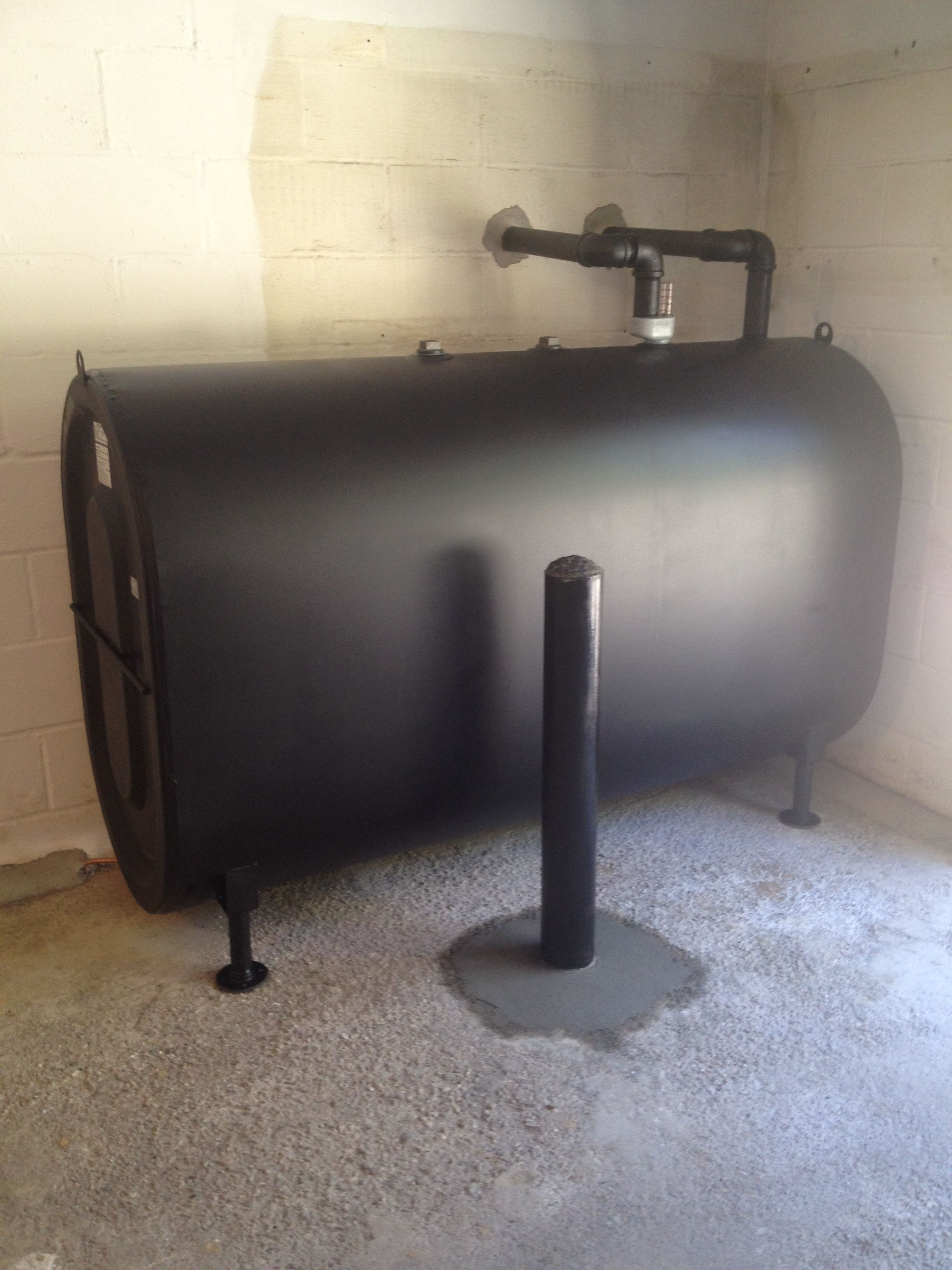 Above Ground Oil Tank With Ballard Installed In