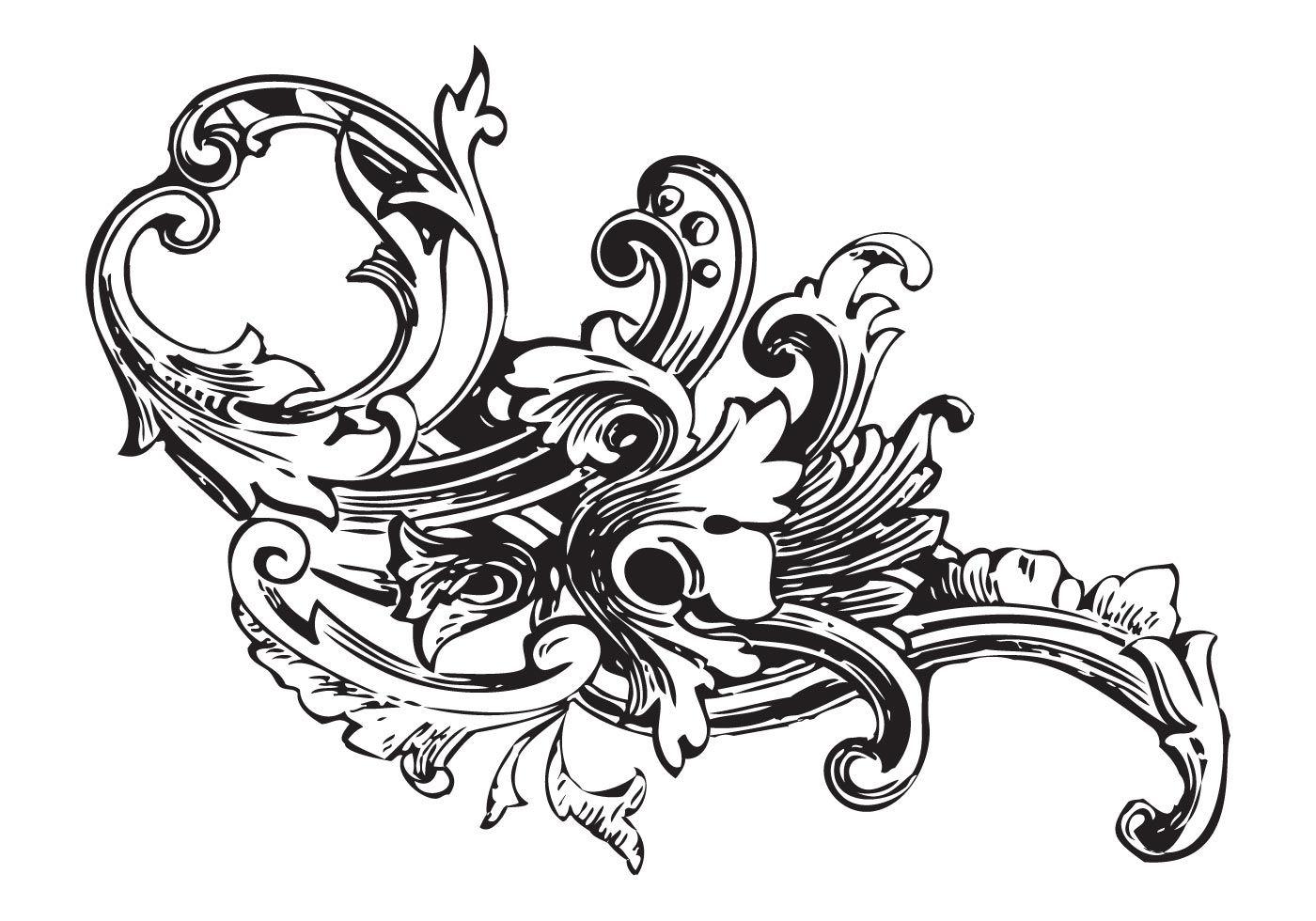 Wpid Ornament Vector Baroque Pack Vol1 Jpg 1400 980 Baroque Ornament Free Vector Ornaments Vintage Graphics