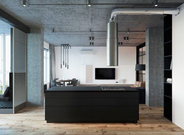 3 Concrete Lofts With Wide Open Floor Plans (Interior Design Ideas)