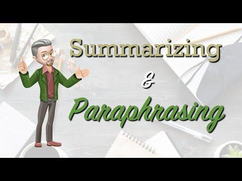 Esl Writing Summarizing And Paraphrasing Youtube Essay A Book