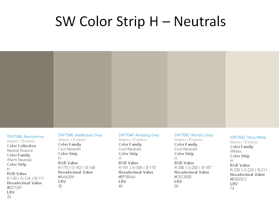 Best Sw Color Str*P H Neutrals Worldly Gray Walls Thinking 400 x 300