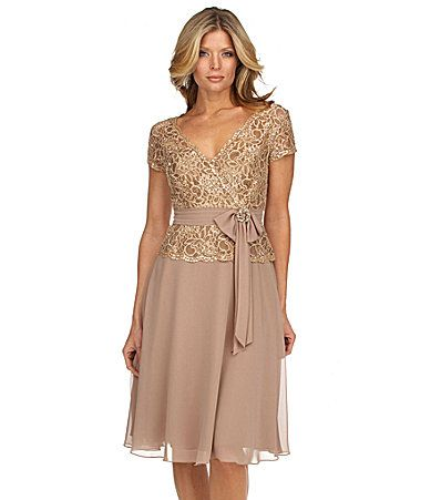 Mother of the bride dress km collections beaded lace for Dillards plus size wedding guest dresses